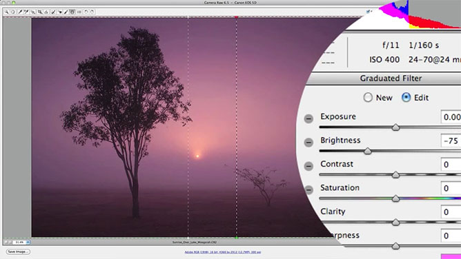 Graduated Filter Settings In Camera Raw