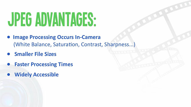Jpeg Advantages