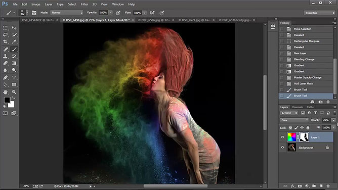 Adding Color & Saturation In Photoshop