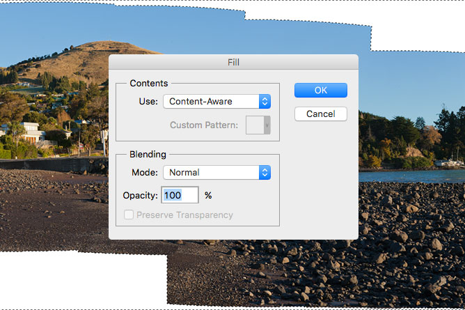 Photoshop Fill Content-Aware