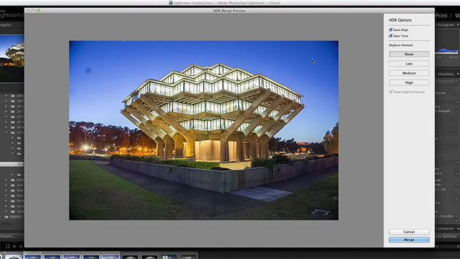 Photo Merge HDR Options
