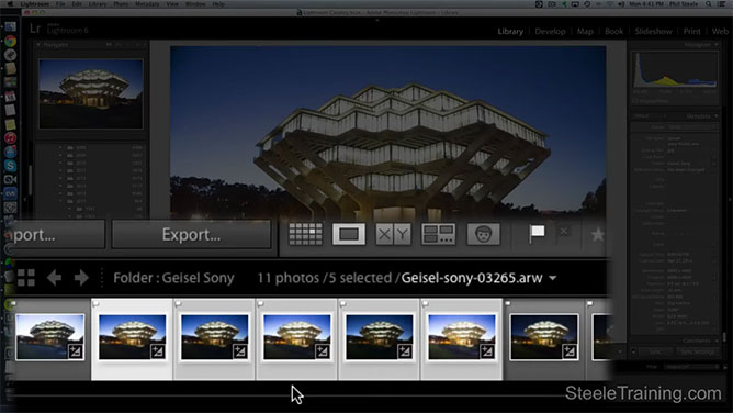 Select Images Within Lightroom