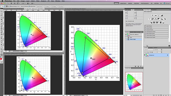 ICC Color Profiles - sRGB, Adobe RGB & Pro Photo Gamuts
