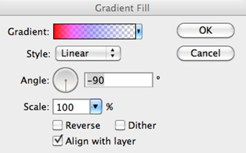 New Fill Layer - Gradient Fill