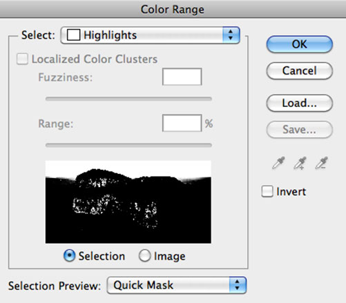Select Color Range - Highlights