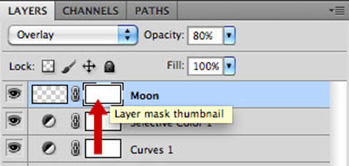 Add Blank Layer Mask To Moon