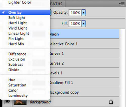 Photoshop Layer Blending Mode - Overlay