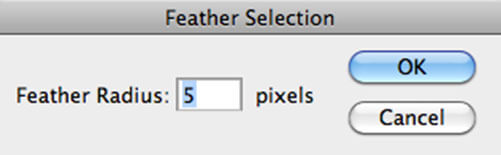 Photoshop - Feather Selection