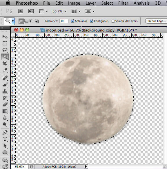 Photoshop - Moon Background Removal