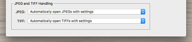 Adobe Camera Raw Preferences - JPEG & TIFF Handling